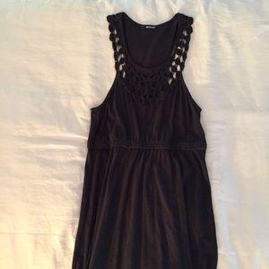 LaMade Black Cotton crochet Maxi dress, size M